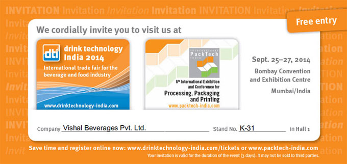 Drink Technology India Invitation